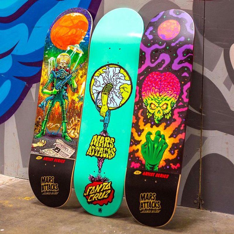 Mars Attack Santa Cruz Skateboard 30