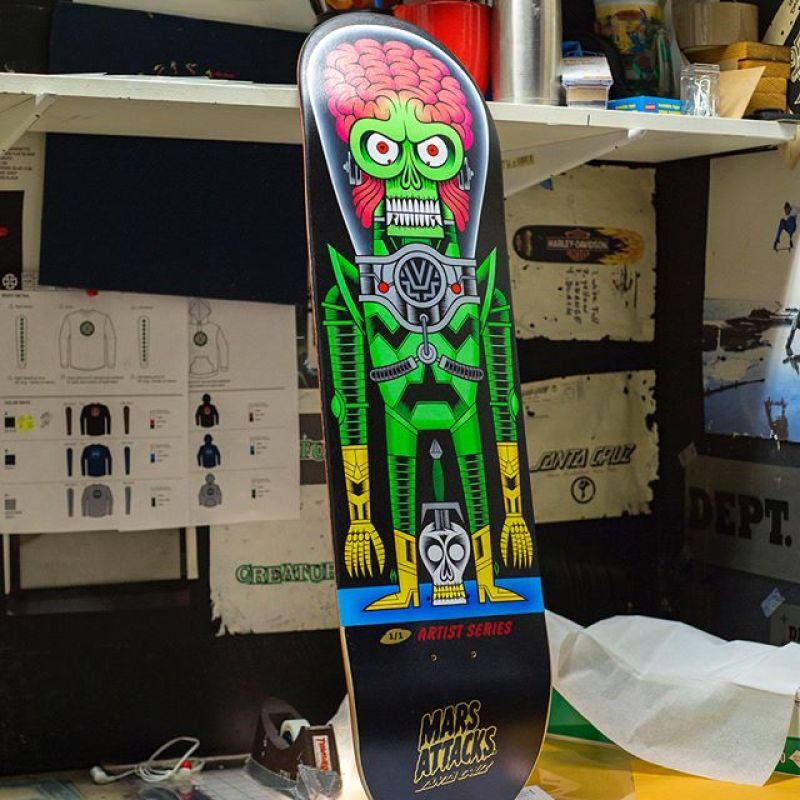 Mars Attack Santa Cruz Skateboard 9