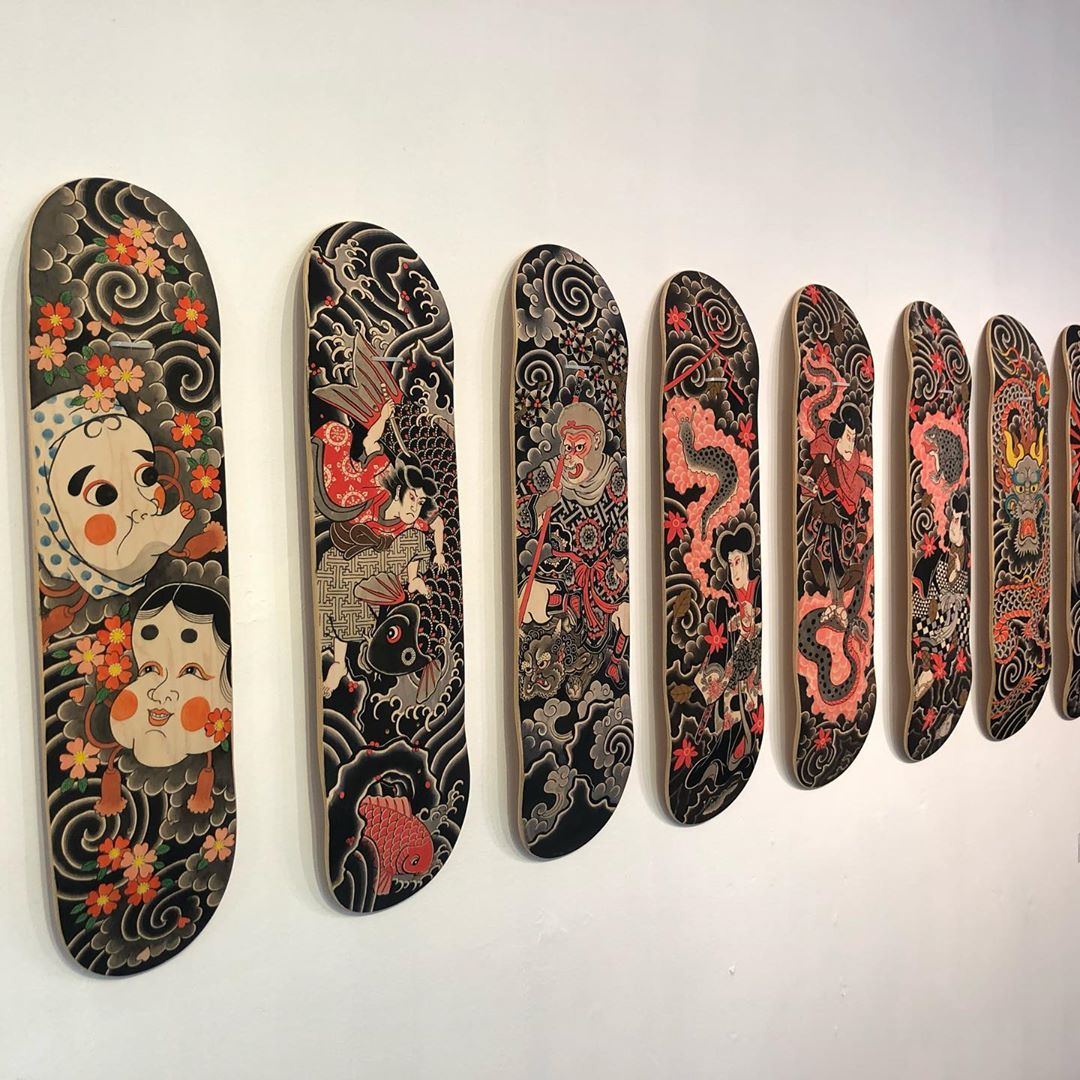 Original Painting On Decks By Horitatsu Mitomo 2