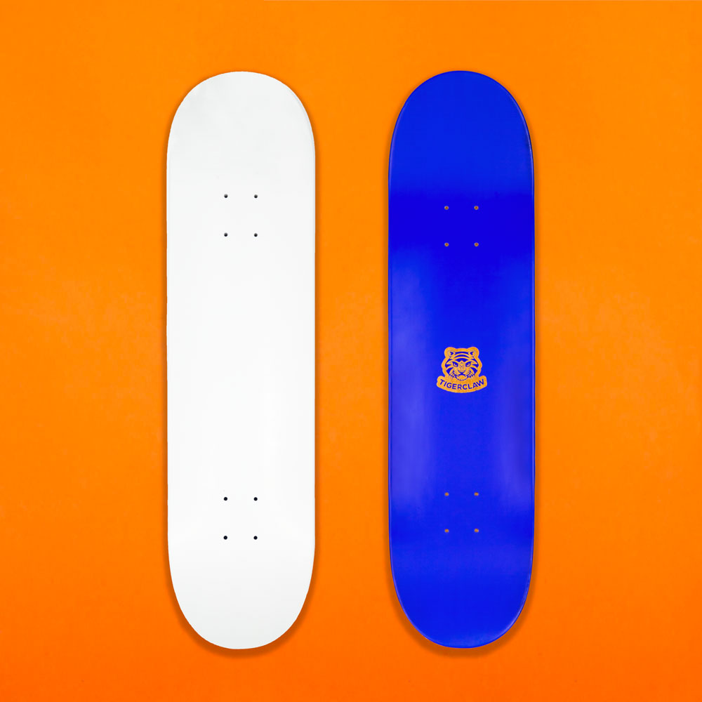 White Skateboard Par Tigerclaw Supplies 2