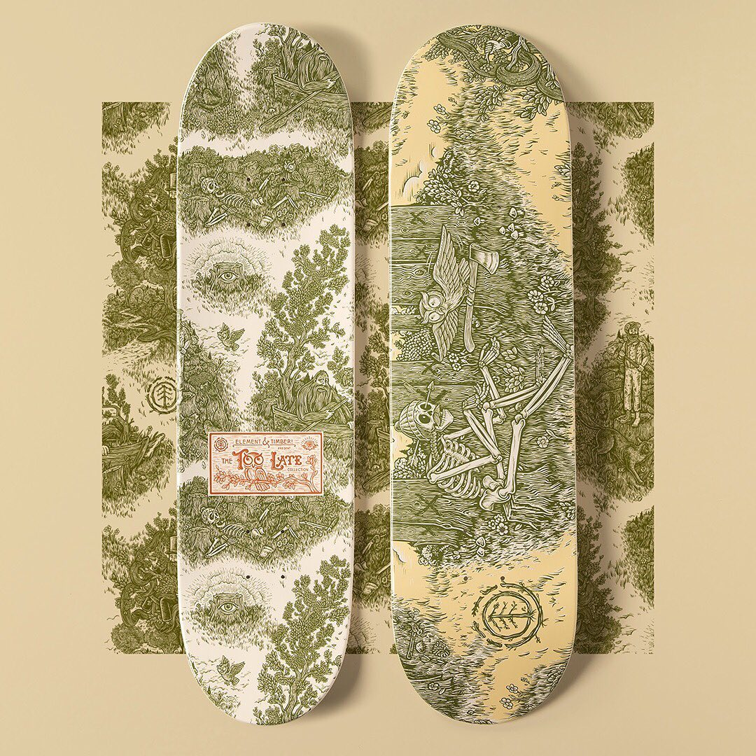 Too Late Series By Timber Element Skateboards 3