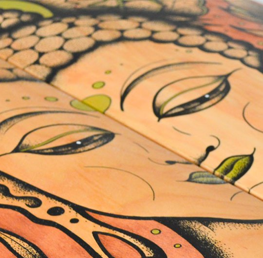 Bouddha Custom Skateboards By Subson Ink