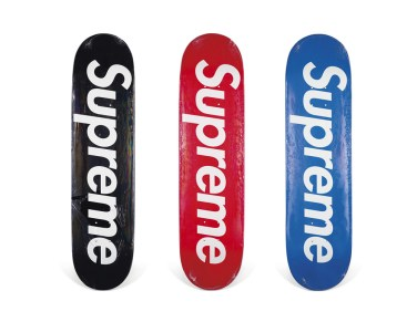 Skateboard Auction Supreme Christies Ny12