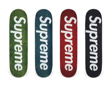 Skateboard Auction Supreme Christies Ny13