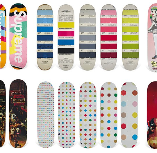 Vente Aux Encheres Skateboard Christies Supreme 1