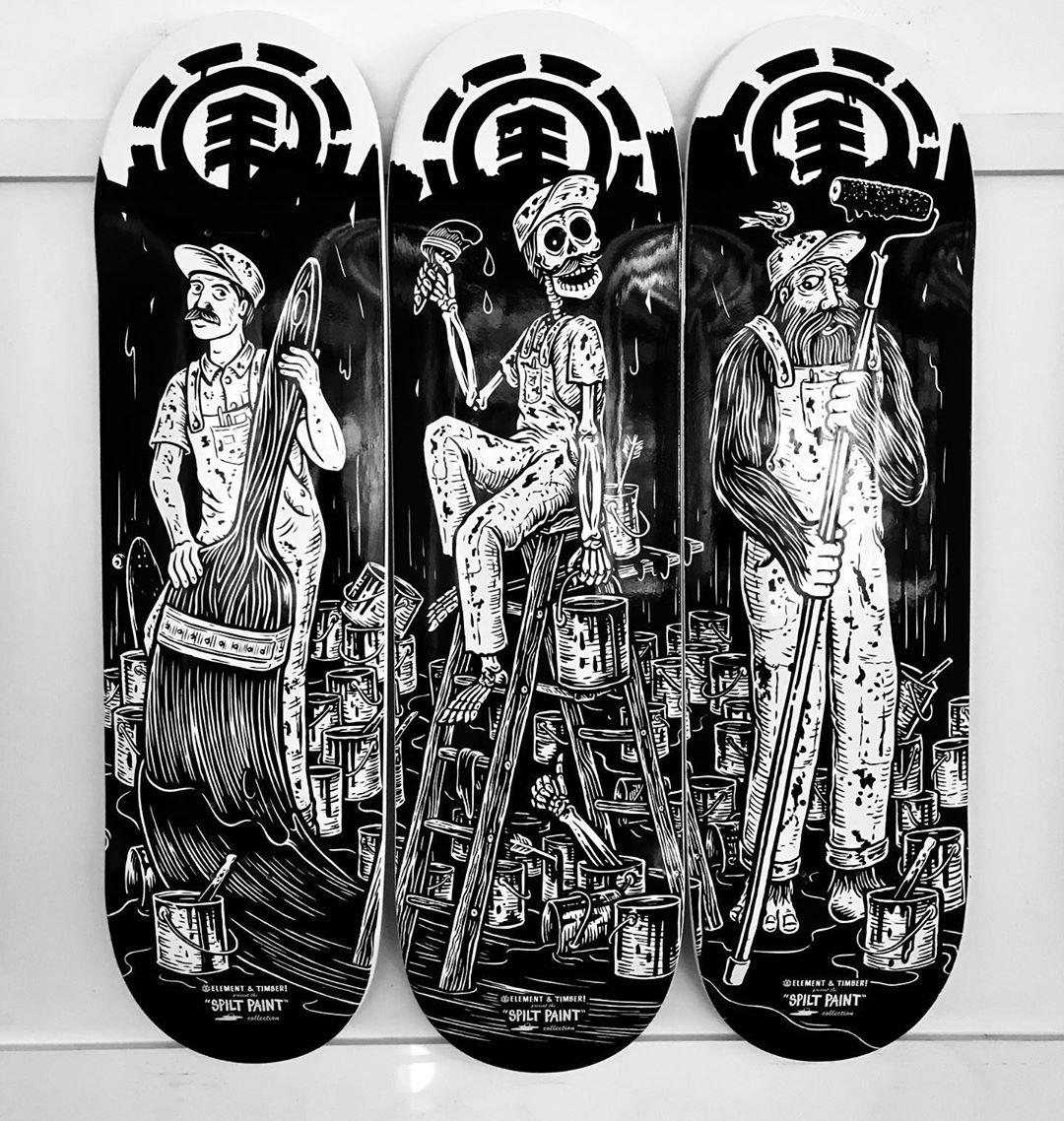 Split Paint Par Timber X Element Skateboards (4)