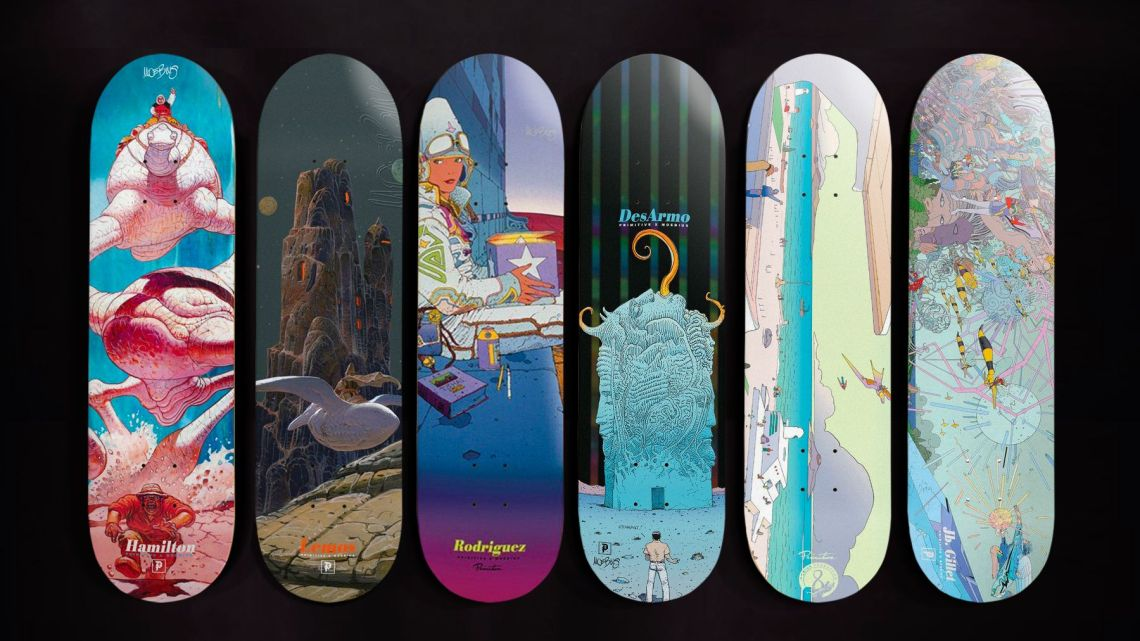 Moebius X Primitive Skateboards 1
