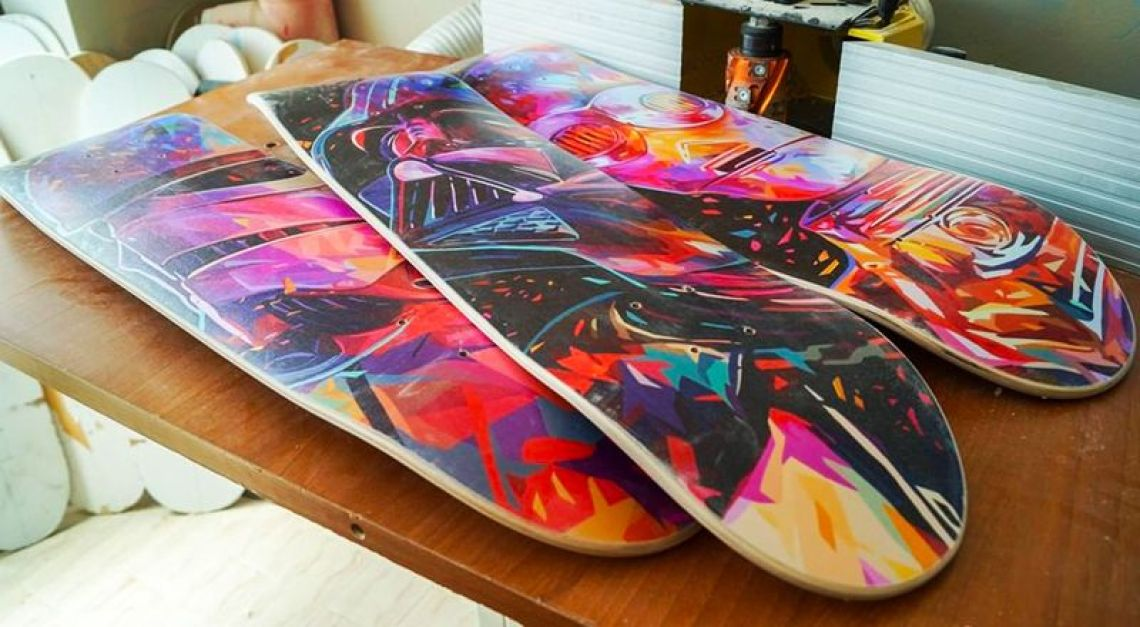 Droid Father Soldier Skateboards By Kaneda X Bonobolabo 2
