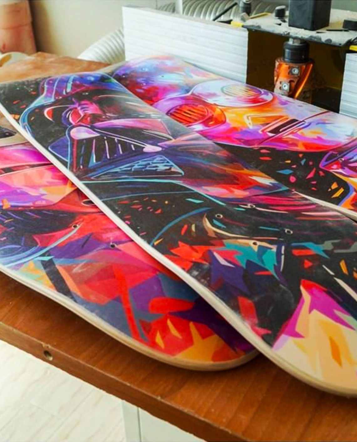 Droid Father Soldier Skateboards By Kaneda X Bonobolabo 5