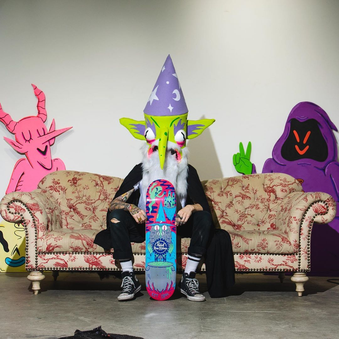 Ride With The Wizard Skateboard By Dakota Cates For Pabst Blue Ribbon 6