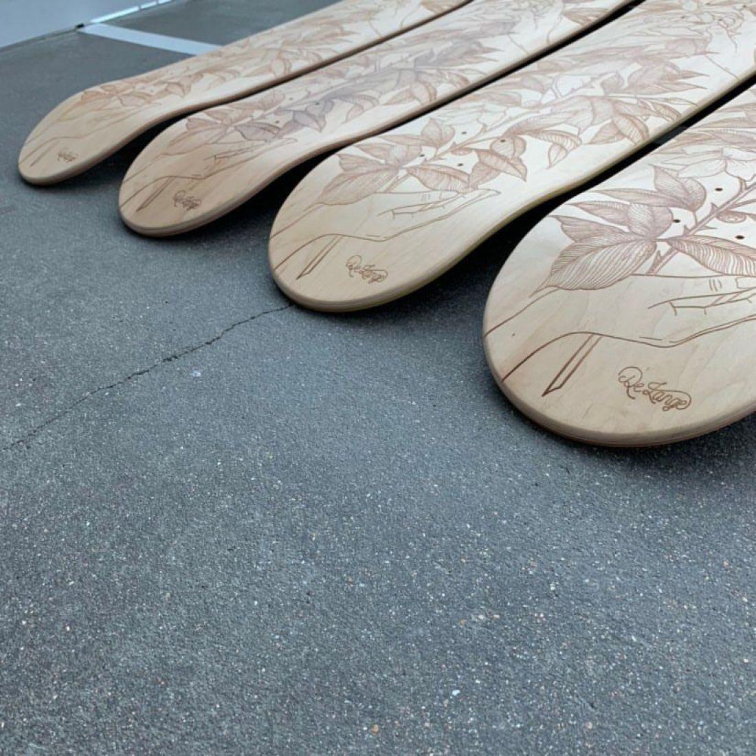 De Lange X Le Shape Engraved Skateboard 5
