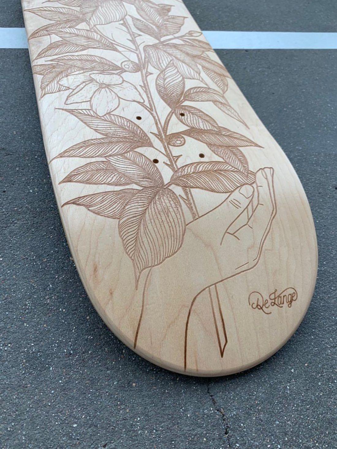 De Lange X Le Shape Engraved Skateboard 8