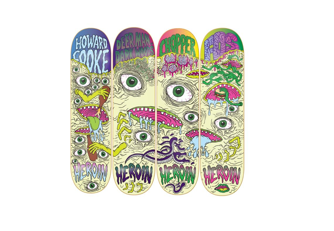 Toxic Mutation Series for Heroin Skateboards, 2010