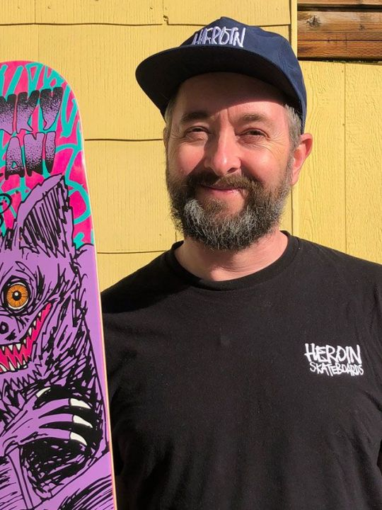 Mark Fos Foster Skate Deck Illustrator Portrait