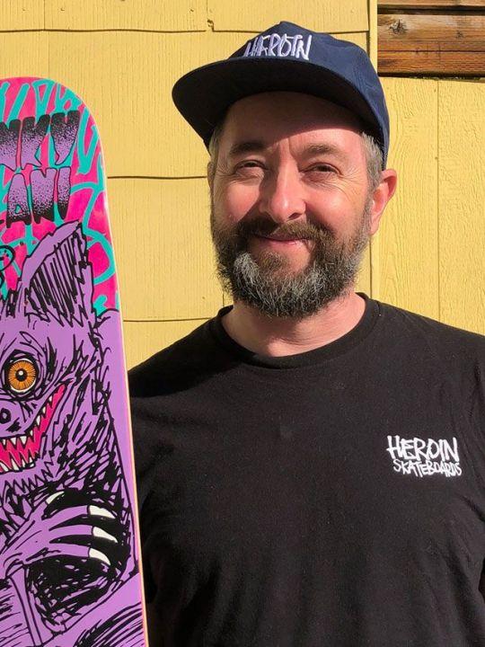 Mark Fos Foster Skate Deck Illustrator Portrait