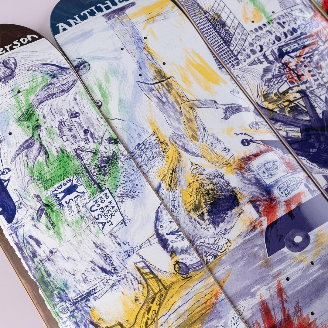 Sf Then And Now Series Par Chris Johanson X Anti Hero Skateboards 1