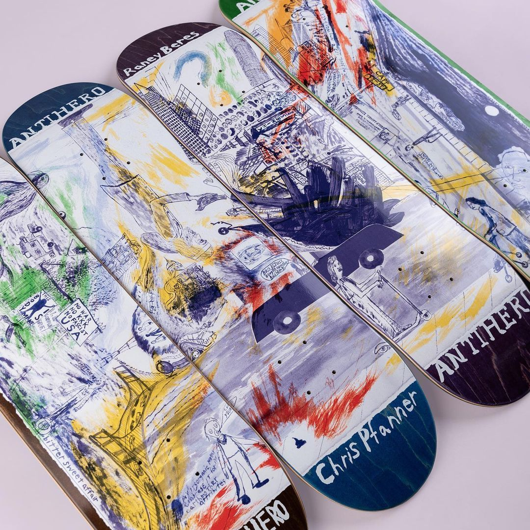 Sf Then And Now Series Par Chris Johanson X Anti Hero Skateboards 3