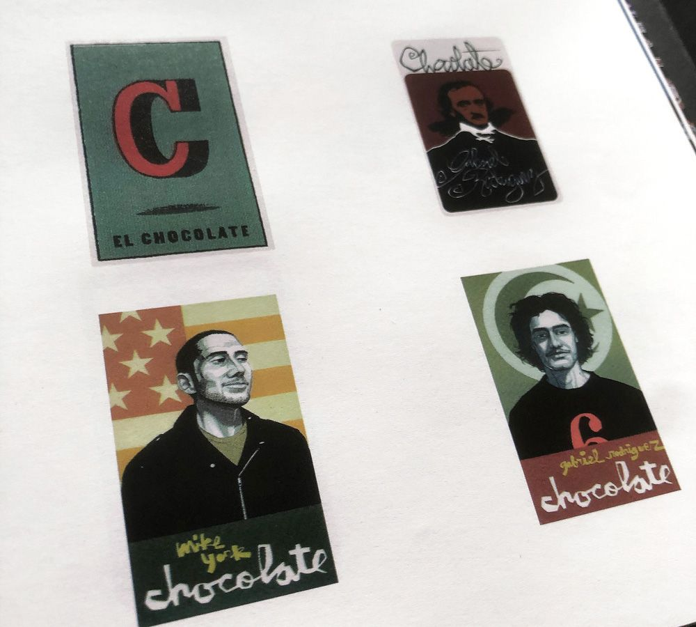 Page sur des stickers Chocolate Skateboards