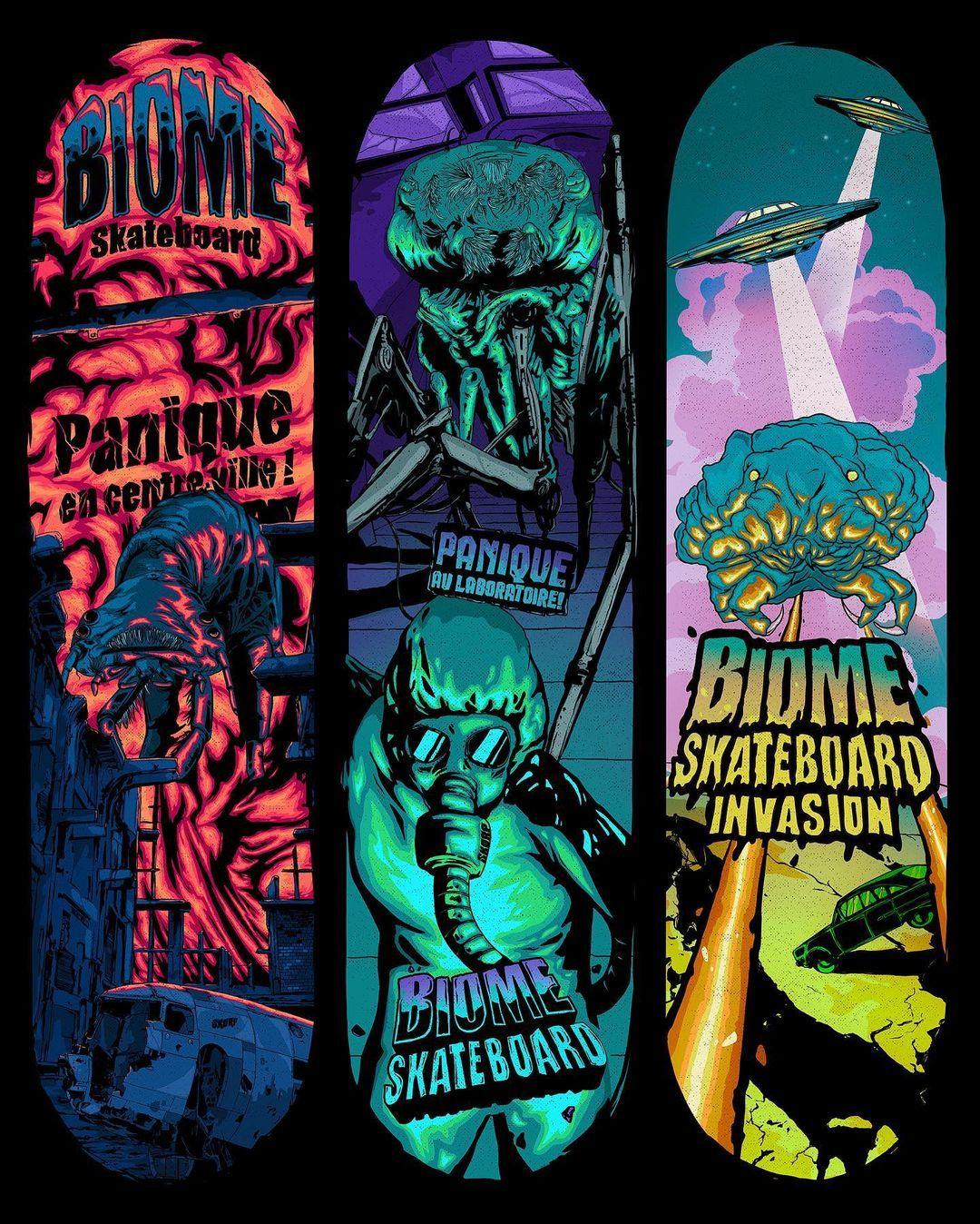 Micro Monstres Series By Skorp X Biome Skateboards.3