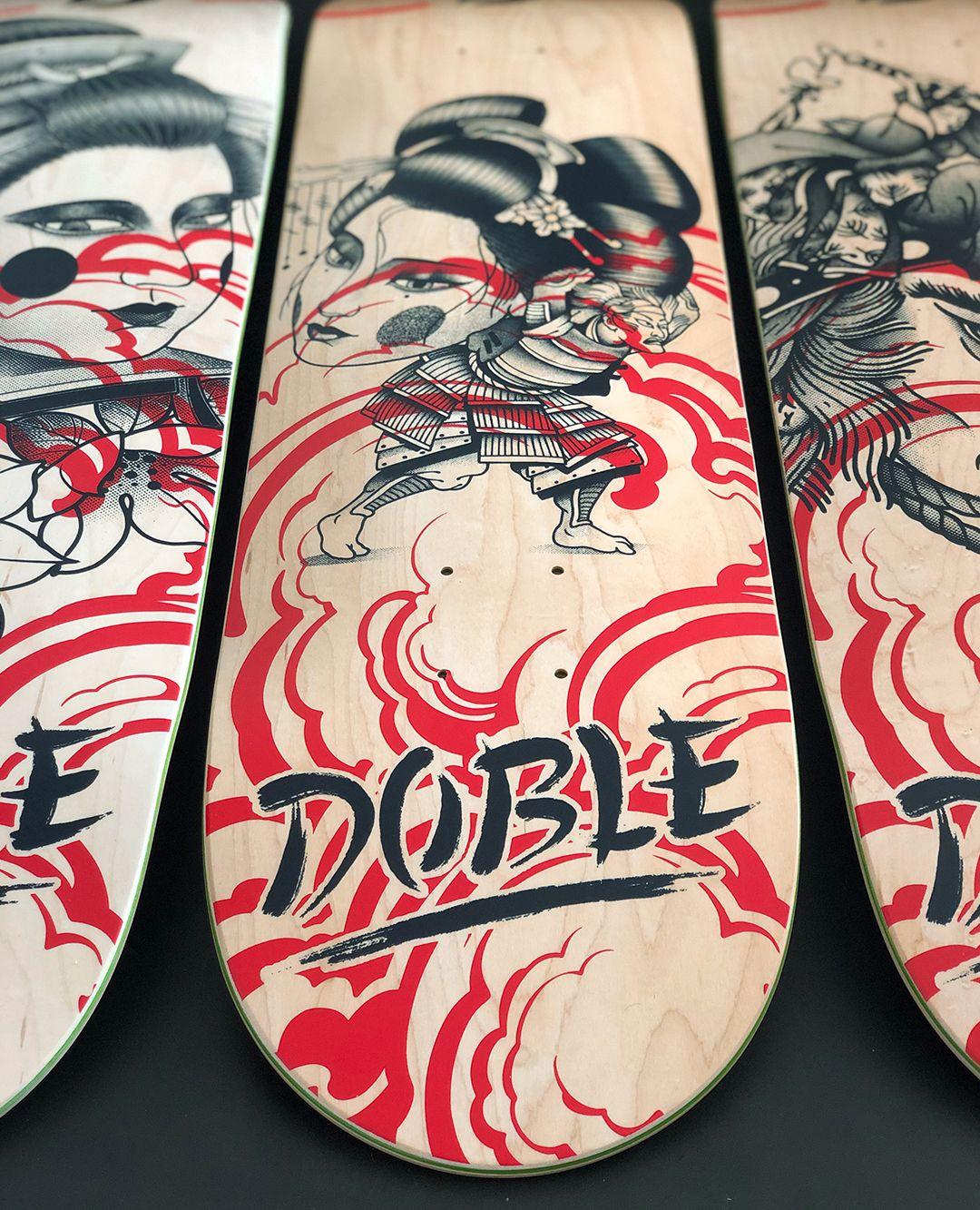 Geisha Series By Plot X Doble Skateboards 8