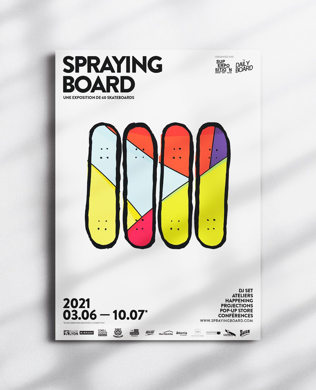 SPRAYING BOARD Exposition Skate X Art Urbain Revient A Lyon 10