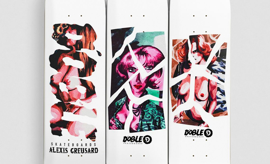 Aquarelle Series By Quentin Caillat X Doble Skateboards 1