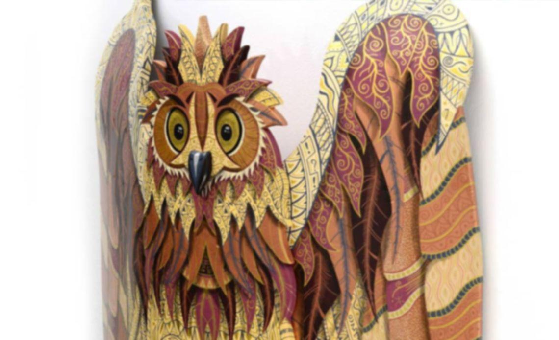 Owl Wild Life Skate Sculpture By Julien Feniau 6