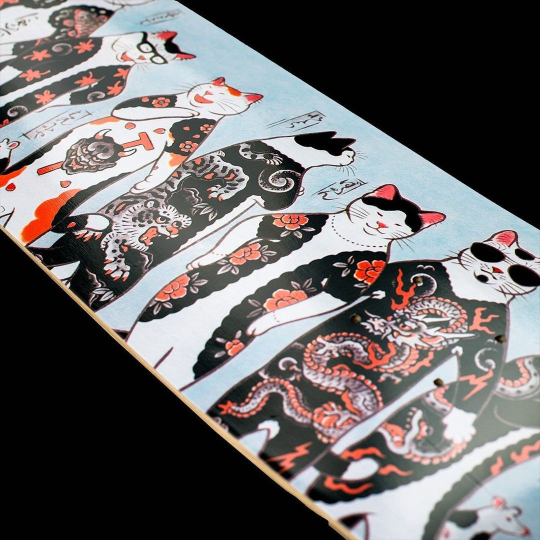 Gang Cat Skateboard Byhoritomo For Monmon Cats 1