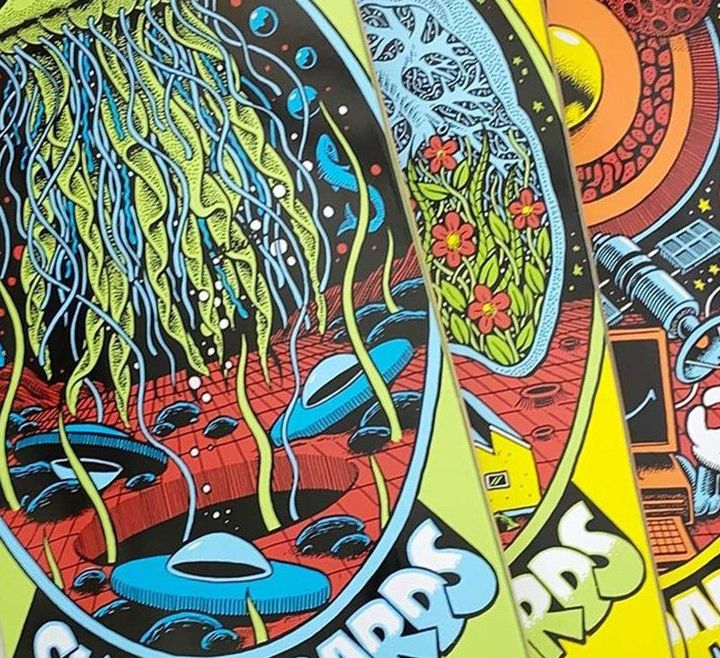 Pegasus Series By Mander X Chrononaut Skateboards 6
