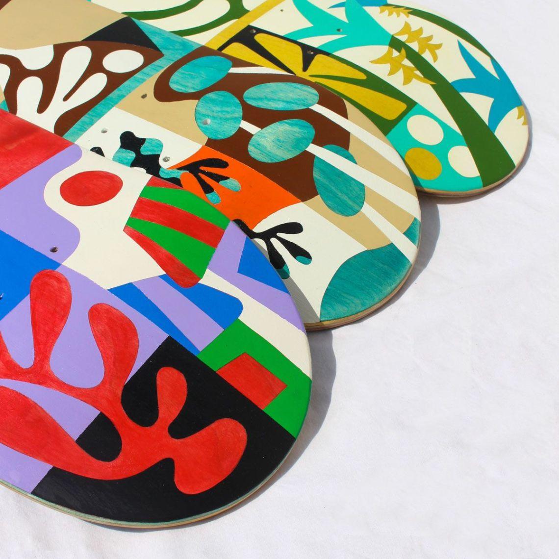 Custom Skateboards By Bart Lanzini For The European Custom Board Show 5