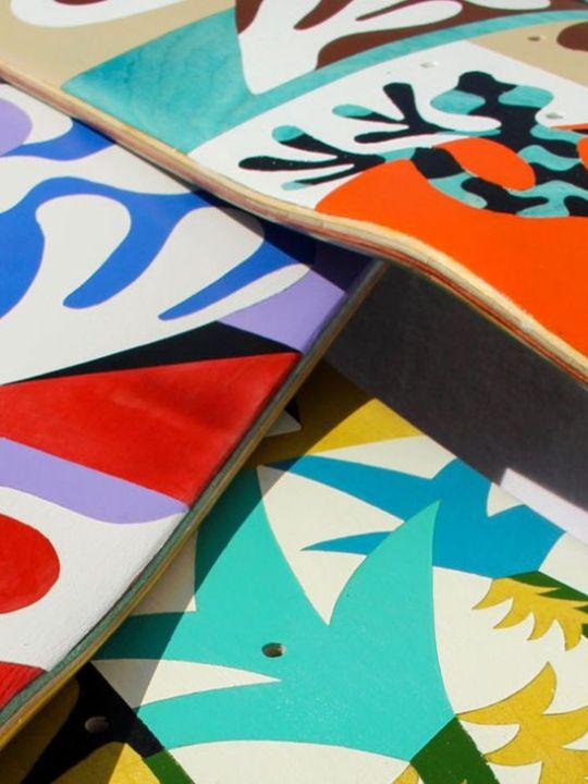 Custom Skateboards By Bart Lanzini For The European Custom Board Show