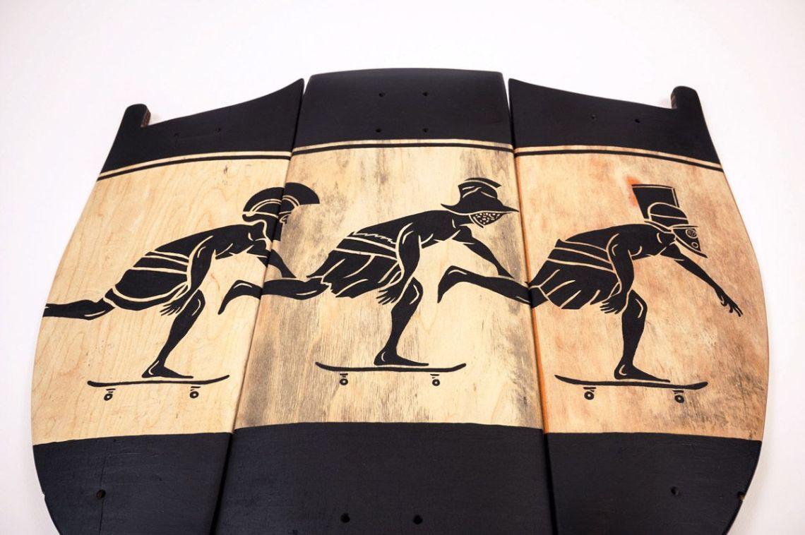 Skunus Gladiatorium Skate Sculpture By Rom Avjc 3