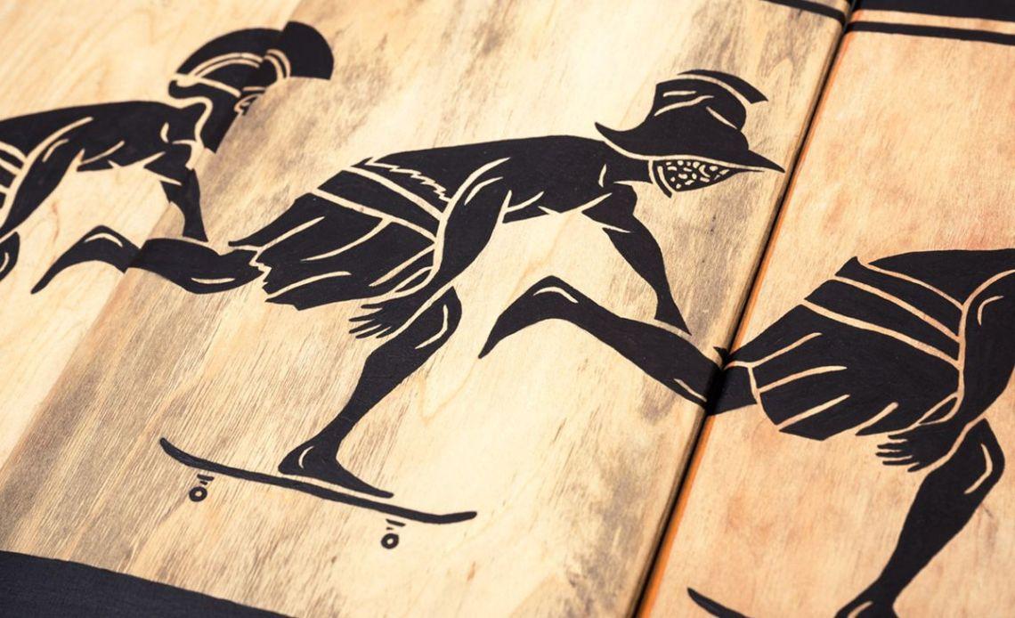 Skunus Gladiatorium Skate Sculpture By Rom Avjc 5