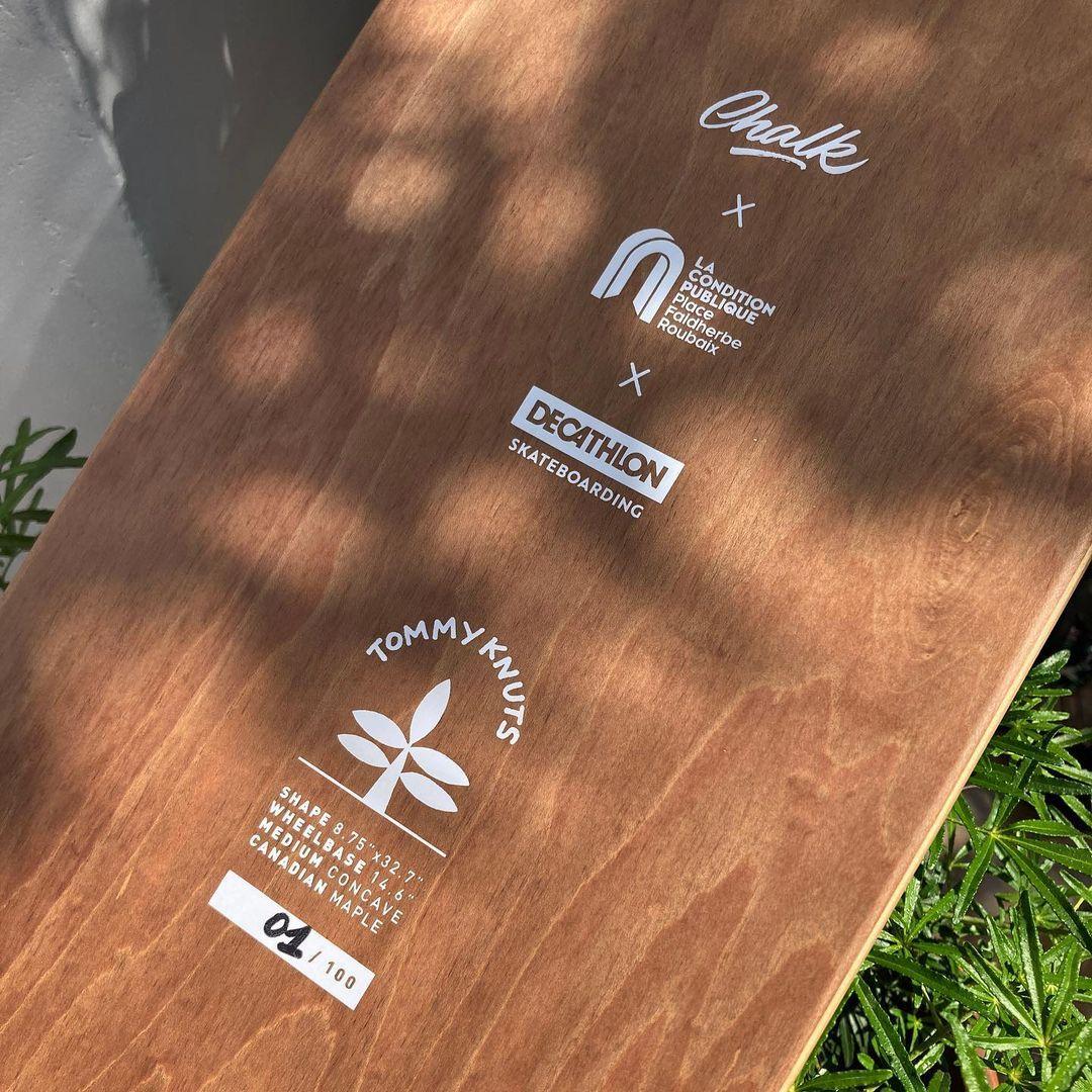 Tommy Knuts X Chalk Custom Board X Decathlon Skateboarding 4