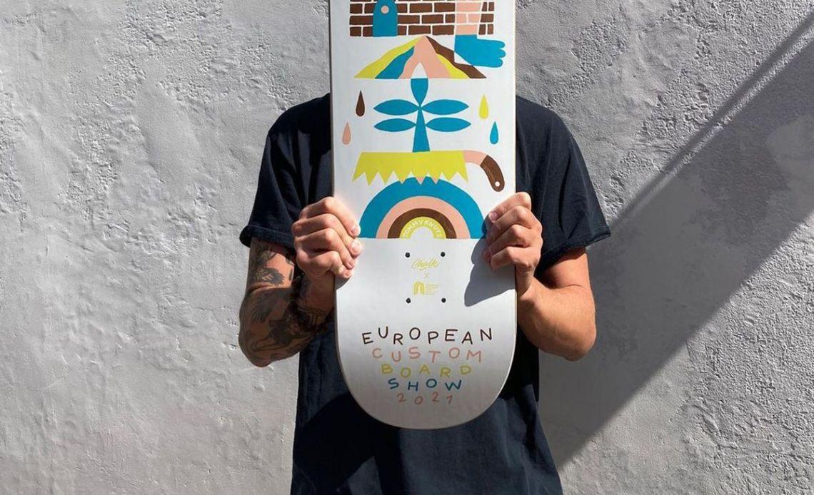 Tommy Knuts X Chalk Custom Board X Decathlon Skateboarding 5