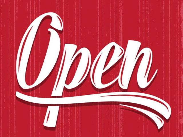 Open. . .