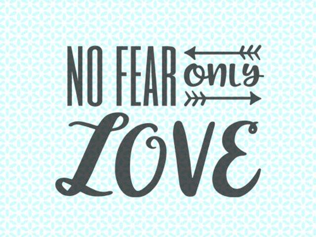 No Fear. . .