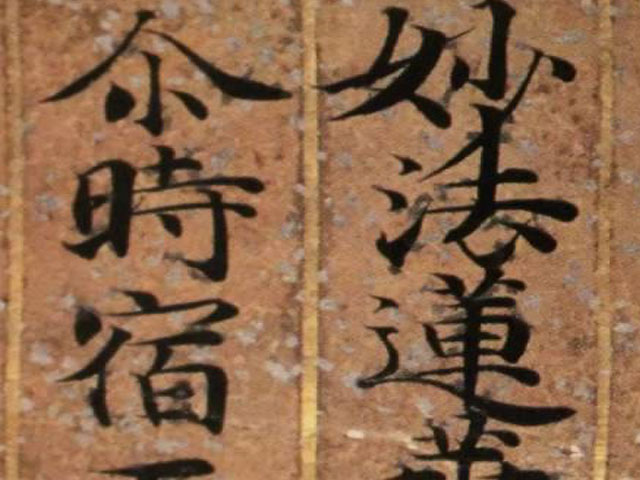 The Lotus Sutra. . .
