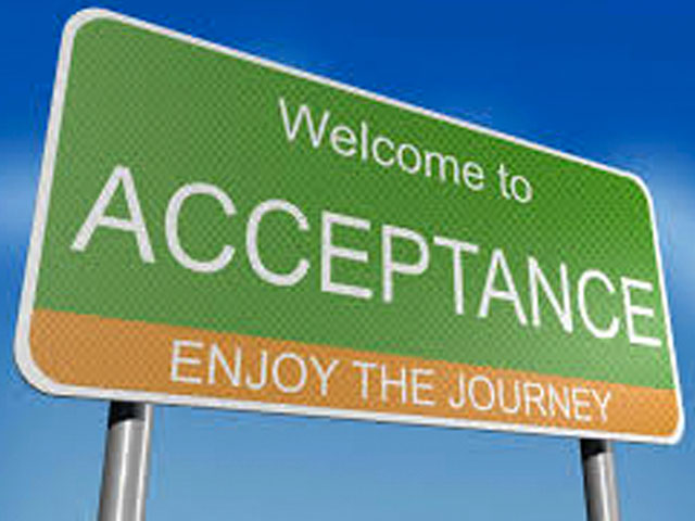 Five Steps To Now – Acceptance