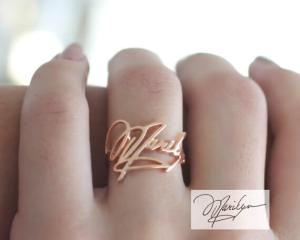 Handwriting Ring • Custom Actual Signature Ring • Handwriting Personalized Keepsake Jewelry in Sterling Silver • Mother in Law Gift • RM01