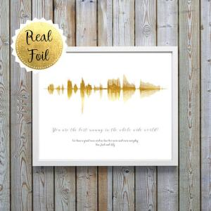 Personalized Sound Wave Print, Wife Thoughtful Gift, Soundwave Gift, Soundwave Custom, Custom Valentine Gift For Him, Personalised Mum Print