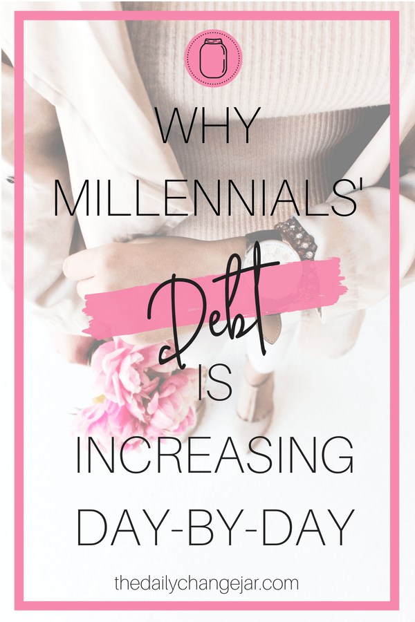 There is a certain stigma with millennials and how they manage their money. It is true that we millennials can sometimes be impulsive and not all that great at money management. Click the image to read this guest post on why millennials debt is increasing. #studentloans #millennialdebt #payingforcollege #payoffdebt #debt #millennial