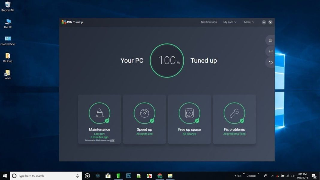 AVG PC TuneUp 2019 Review