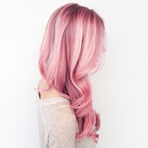 ombre pink hair side view