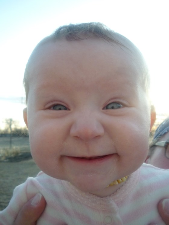 SUCH a funny girl! This is her super excited face, haha!