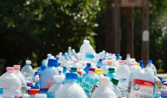 assorted plastic bottles