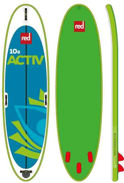 red co yoga paddle board