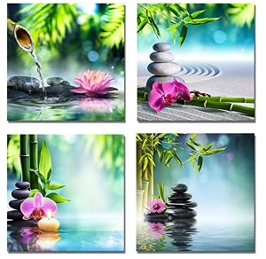 zen decal with zen stones and bamboo