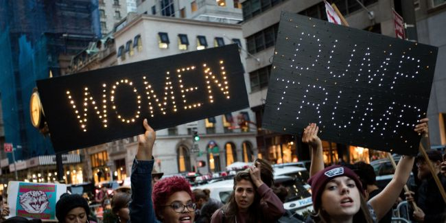 women-trump-march
