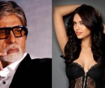 esha gupta with amitabh bachan in ankhen 2